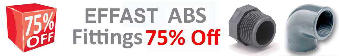 ABS Fittings 75% Off