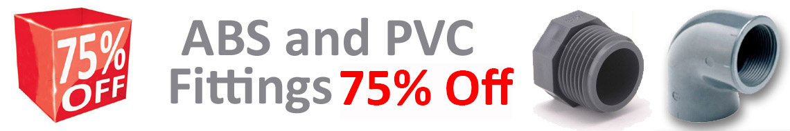 PVC ABS Fittings 75% Off