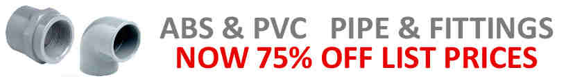 New PVC-ABS Pipe  and Fittings Discount