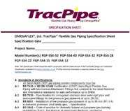 Tracpipe Specification Sheet