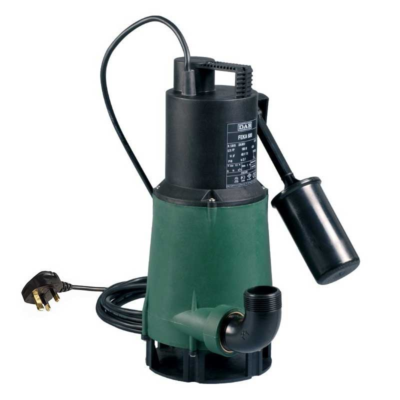 Dab Feka 600 Ma Automatic Sump Pump With Float Arm 240v