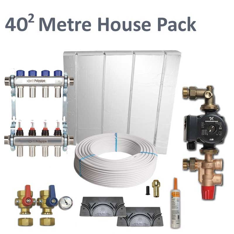 Polyplumb Overlay Underfloor Heating House Pack O404