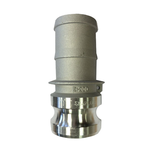Snaplock Coupling E Adaptor with Hose Tail Aluminium