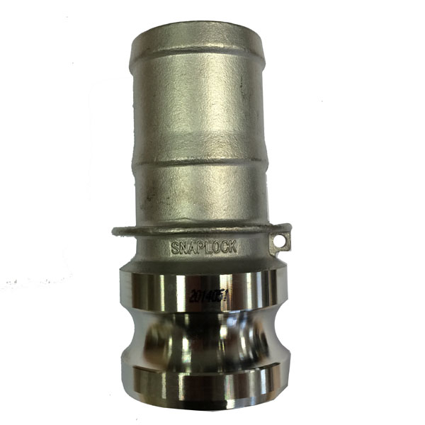 Snaplock Coupling E Adaptor with Hose Tail Stainless