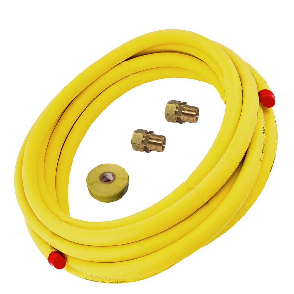 Tracpipe Flexible Gas Pipe Coil and BSP Fittings Pack