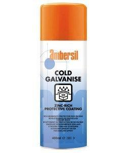 400ml Ambersil Cold Galvanise Spray ZincRich Protective Coat