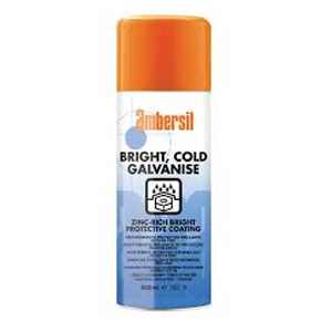 400ml Ambersil Bright Cold Galvanise Spray Zinc Rich coat