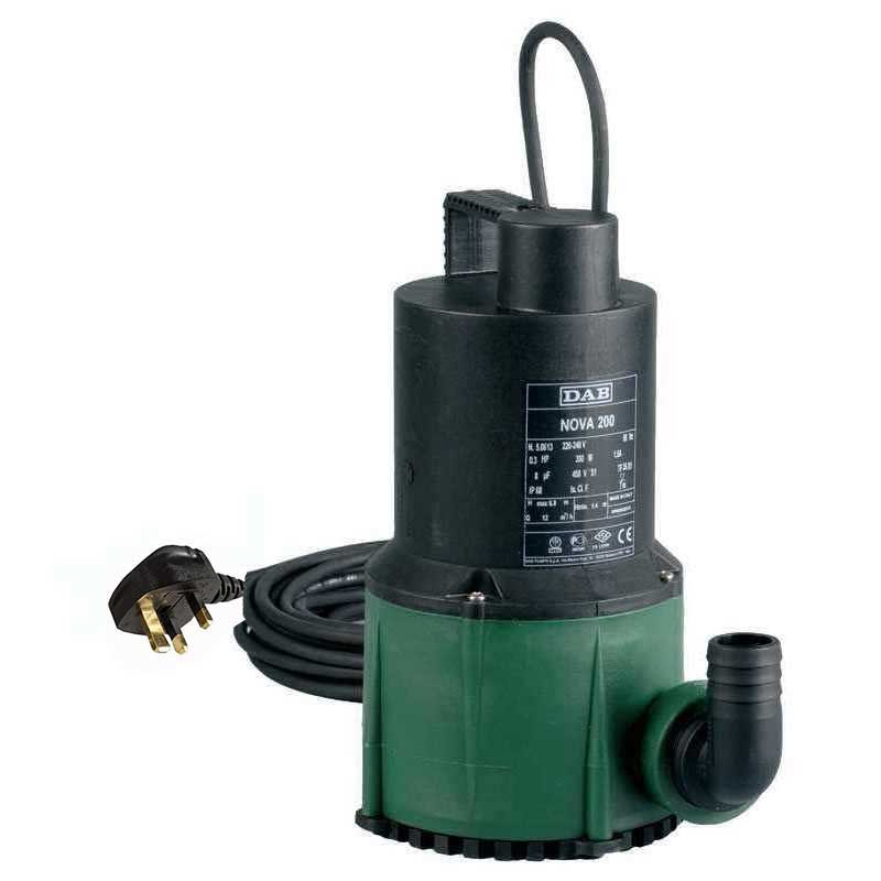 DAB NOVA 200 M-NA Manual Sump Pump c/w 10mtrs cable 110v