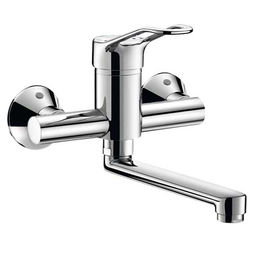 Delabie Wall Mounted Securitouch Mechanical Sink Mixer 2446