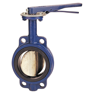 8 Inch SS Disc Butterfly Valve L/OP NBR Liner Wafer Pattern