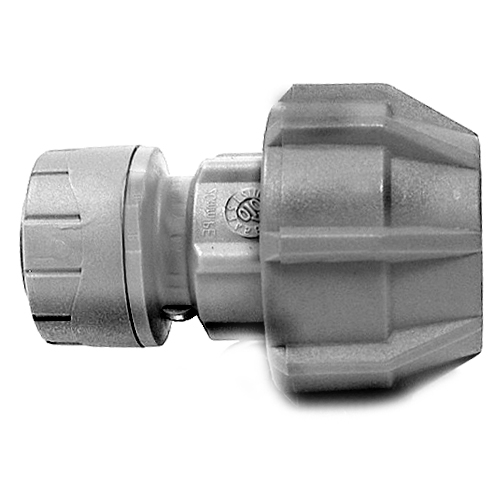 Polyplumb 15mm x 20mm MDPE Adapter Pushfit Pipe Fitting