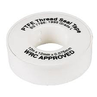 12mm Wide x 12mtrs PTFE Thread Seal Tape 0.075mm thick WRAS