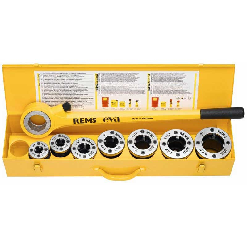 REMS Eva Set R 1/2-2 Inch Hand Die Stock Pipe Threader