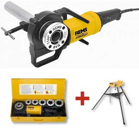 REMS Amigo 2 Set R 1/2-2 inch Electric Threader and Aquila 3B