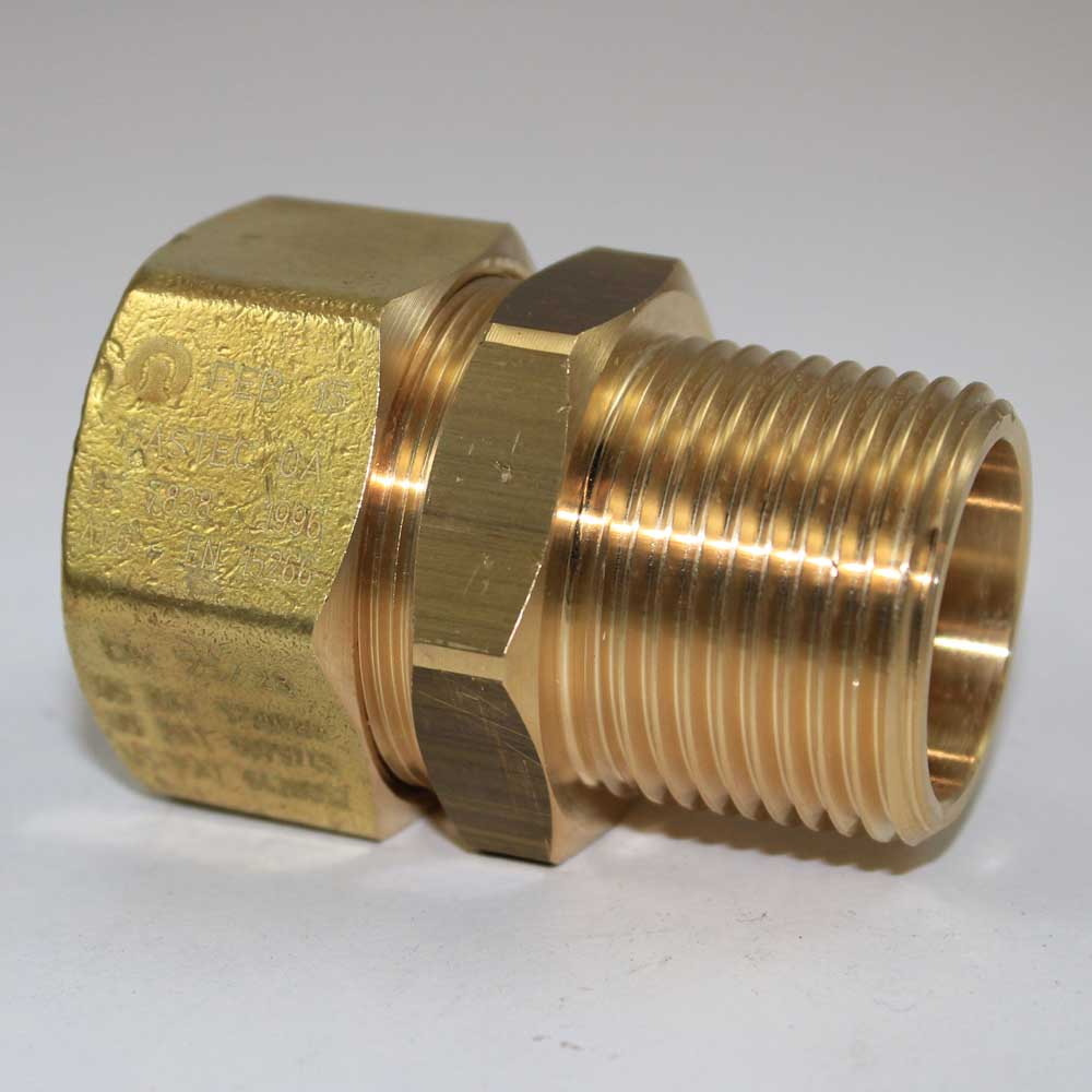 Tracpipe 32mm x 1.25 BSP Male Gas Pipe Connector