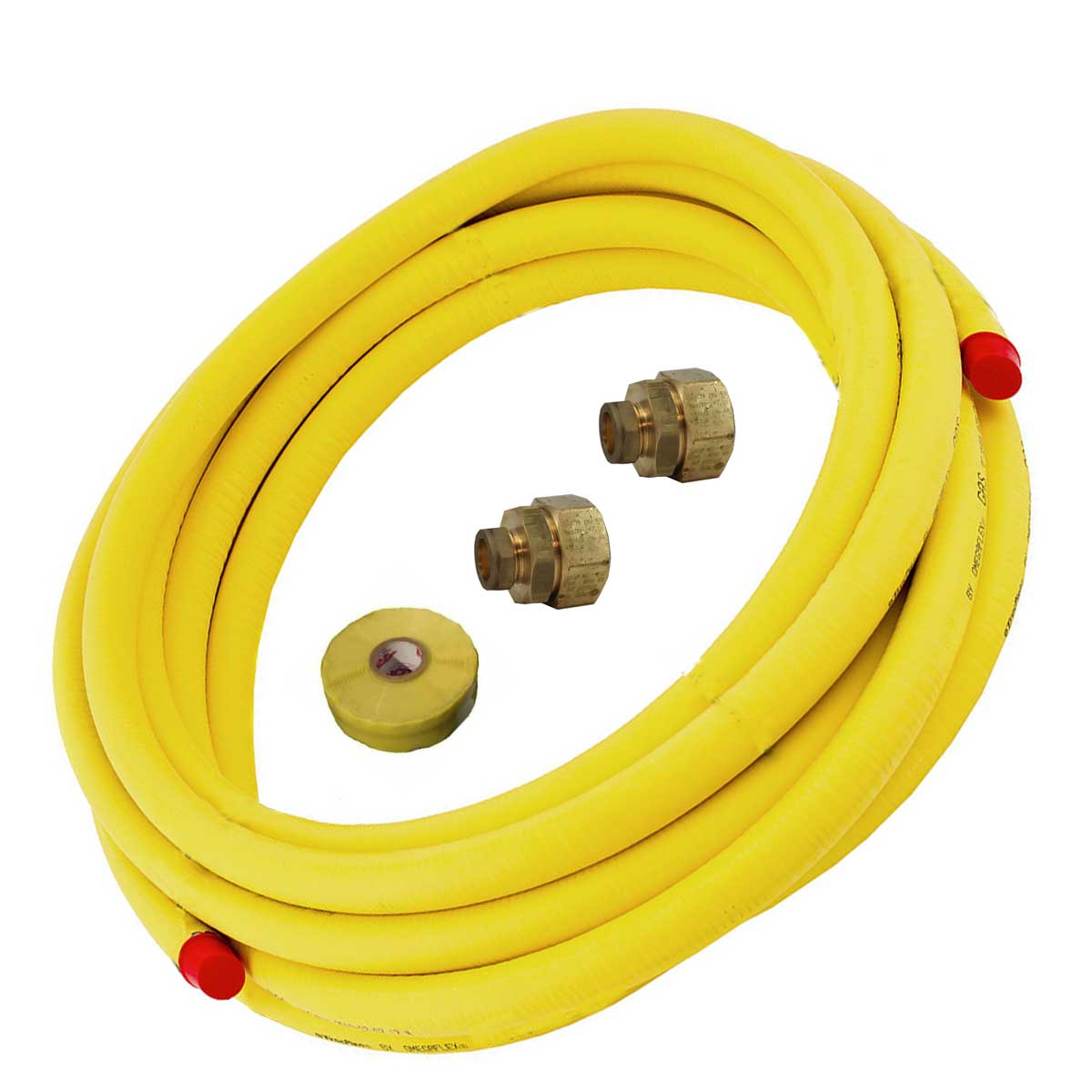 TracPipe 10m Flexible Gas Pipe Fittings and Tape Pack 15mm
