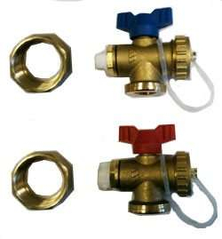 Polypipe Brass Manifold End Set Pair PB127ES