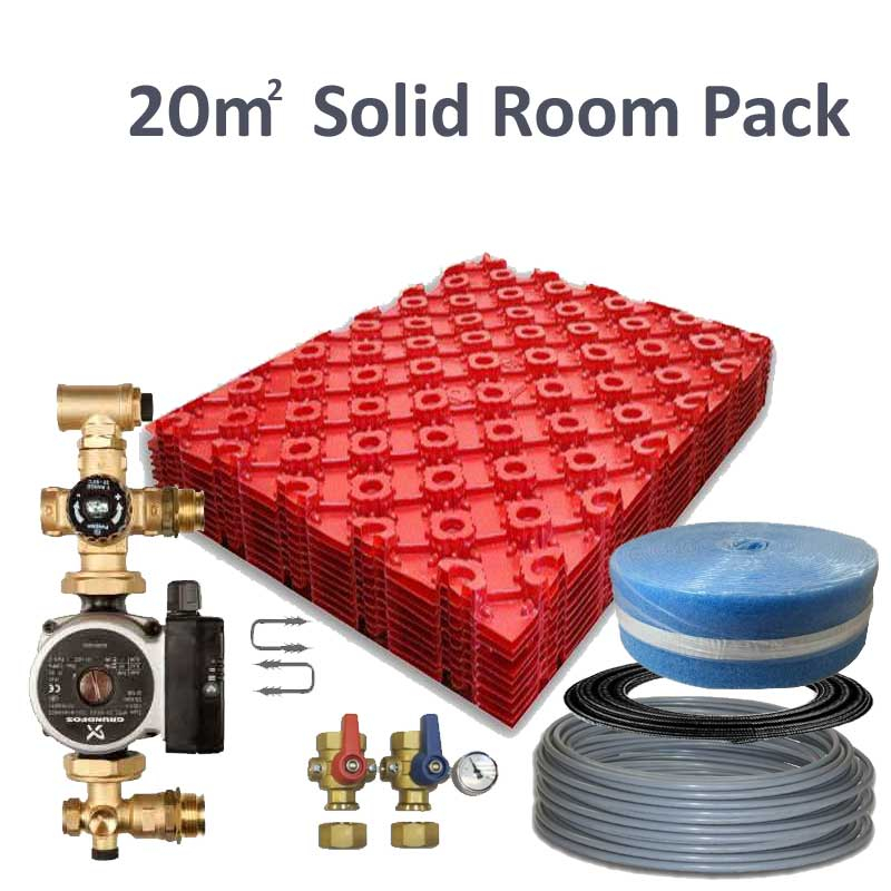 Polyplumb SO20Z Solid Under Floor Heating Single Room Pack