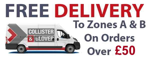 Free delivery on orders over £25 to Zone A and B